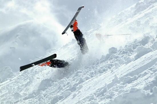 Chûte et accident de ski
